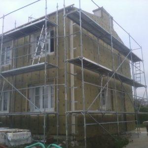 Toute l'isolation est posée il reste le bardage MEP et les finitions toiture