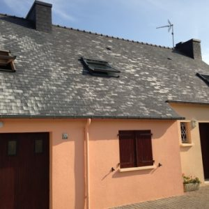 Toiture en eternit fibro ciment à Guilers 29820 entre Saint Renan et Brest 29200